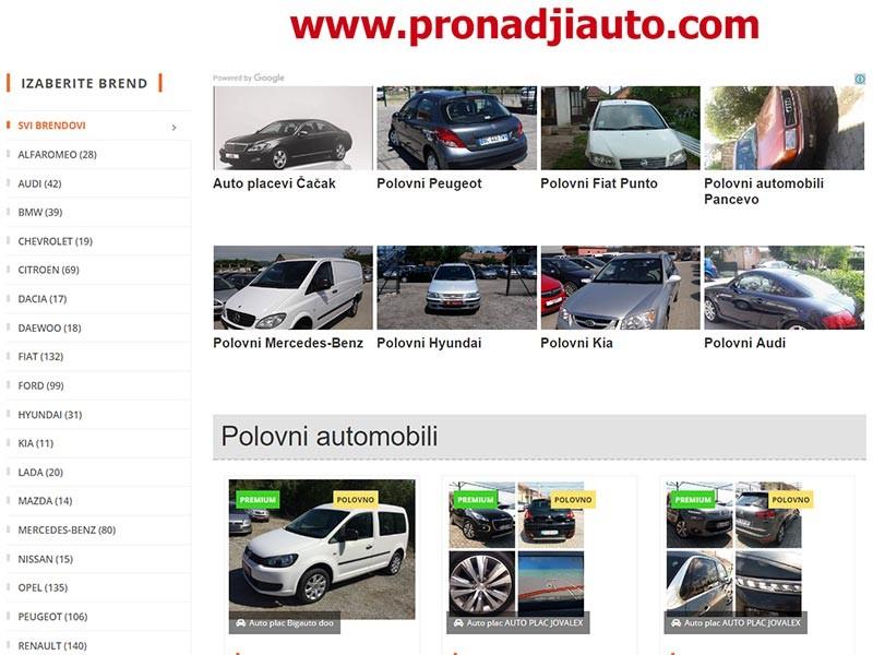 PronadjiAuto polovni automobili