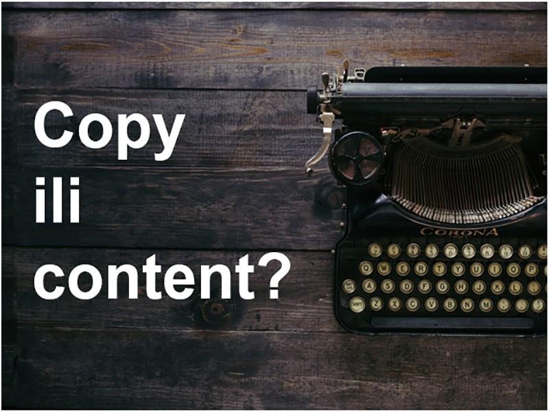 Copy ili content, pitanje je sad?!