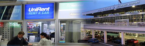 Aerodrom Beograd salter za rent a car