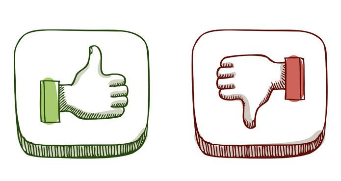 Facebook lajk i dislajk