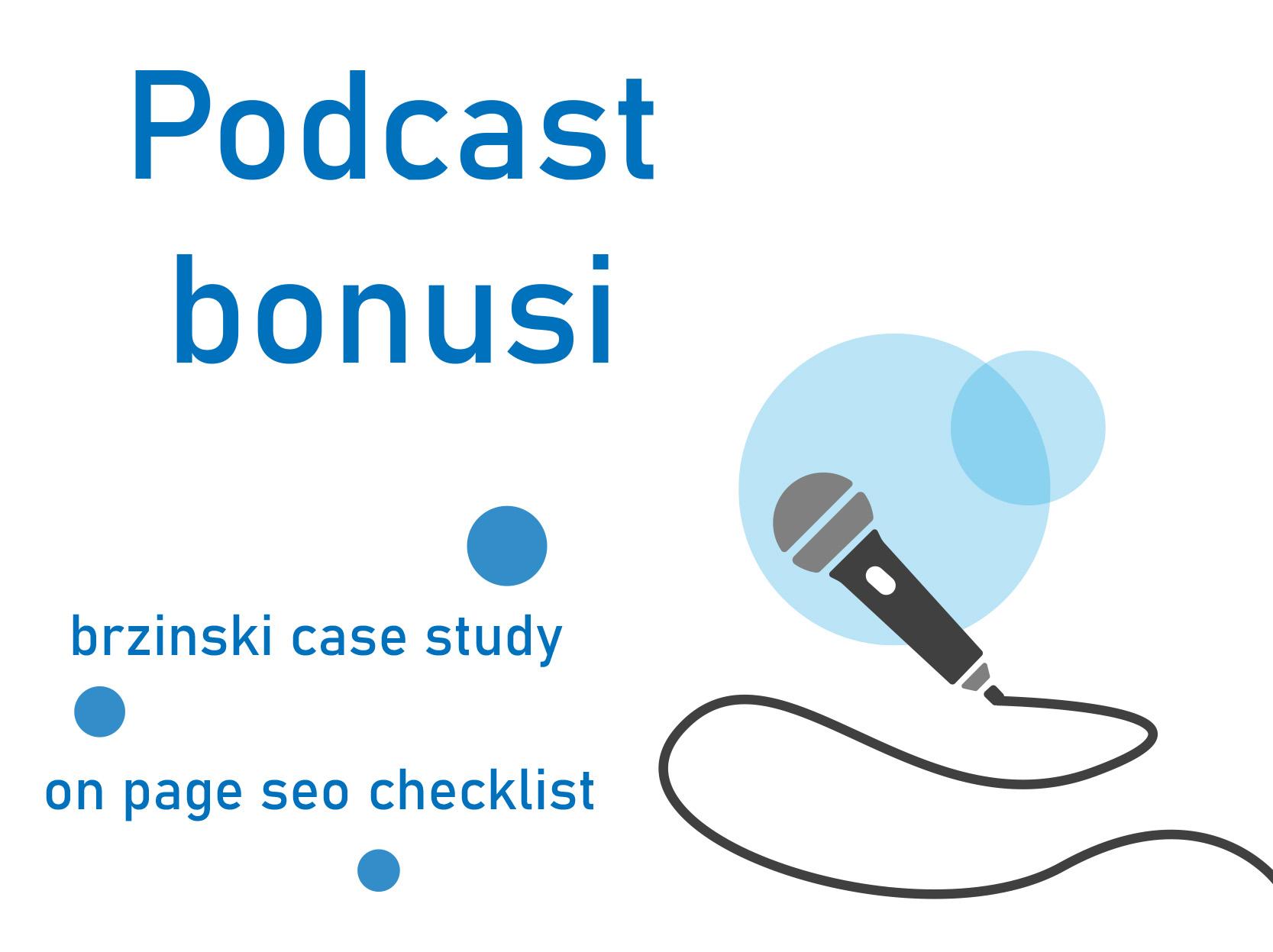 Bonusi za podcast