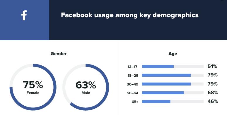 Kako praviti placene oglase na Fejsbuku demografija 2020